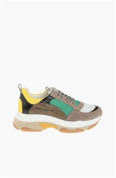 Süet Yeşil Sneaker