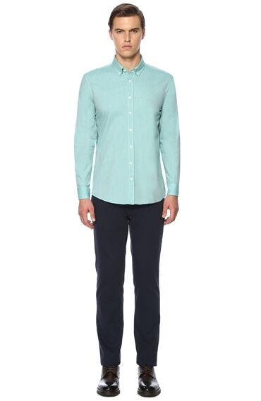 Slim Fit Yeşil Gömlek