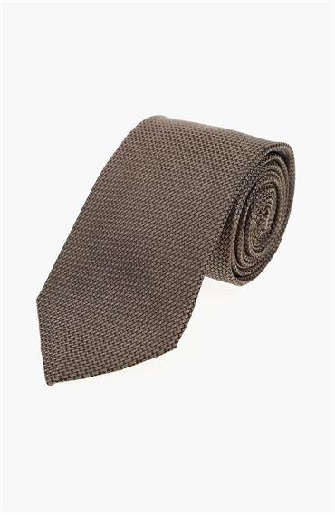İpek Kahverengi Erkek Kravat