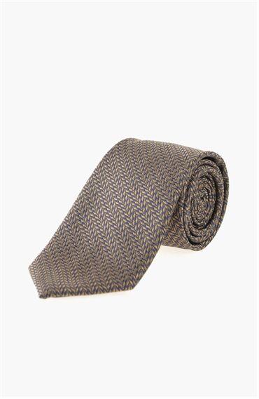 İpek Lacivert-Kahverengi Erkek Kravat