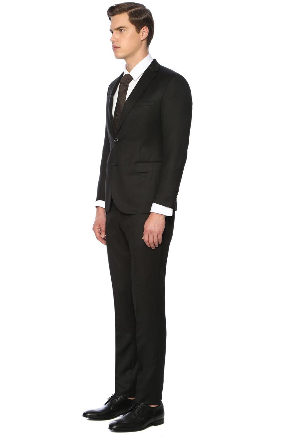 Mikro Slim Fit Siyah Takım Elbise