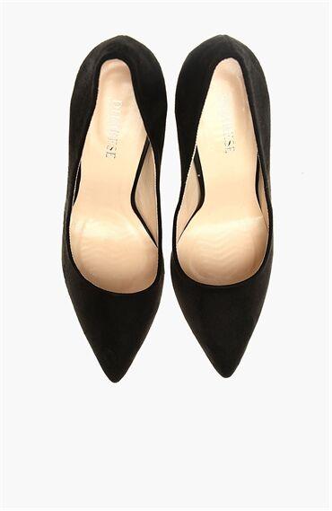 Süet Siyah Kadın Stiletto