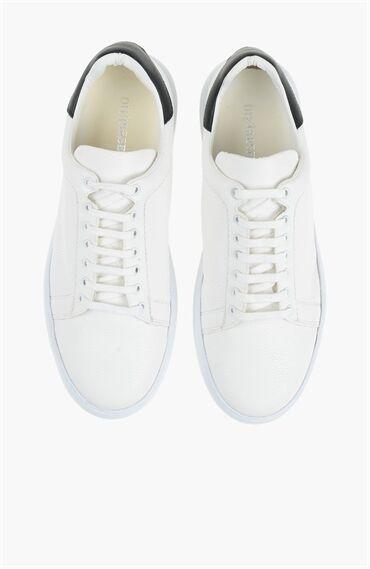 Beyaz Siyah Erkek Ayakkabı