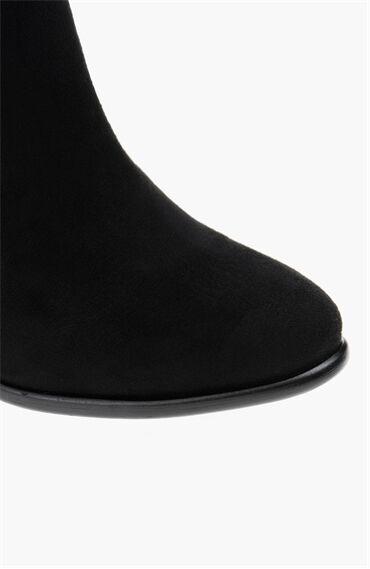 Süet Siyah Kadın Çizme