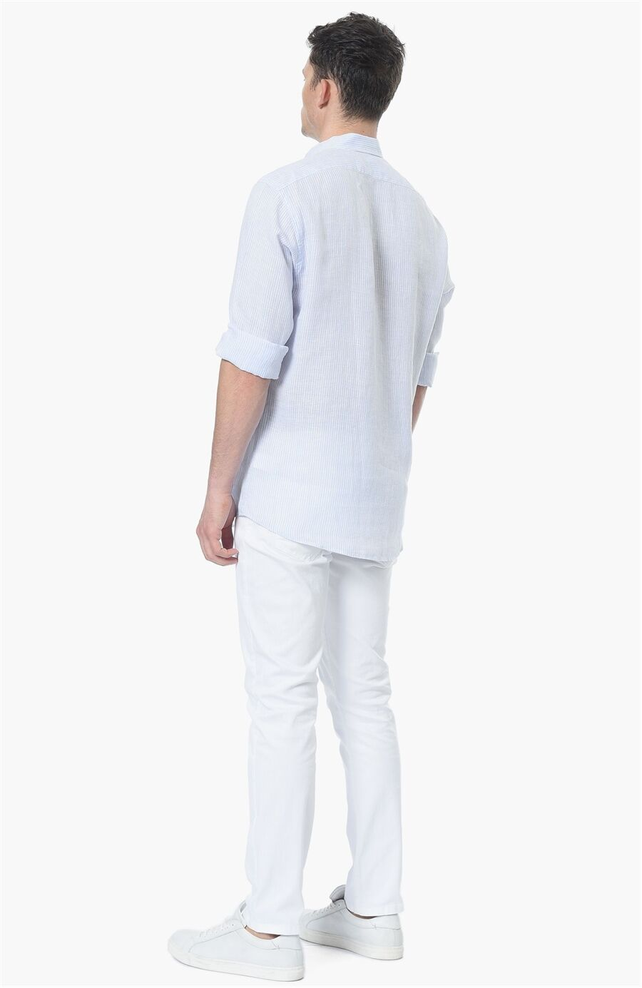 Çizgili Mavi Beyaz Gömlek