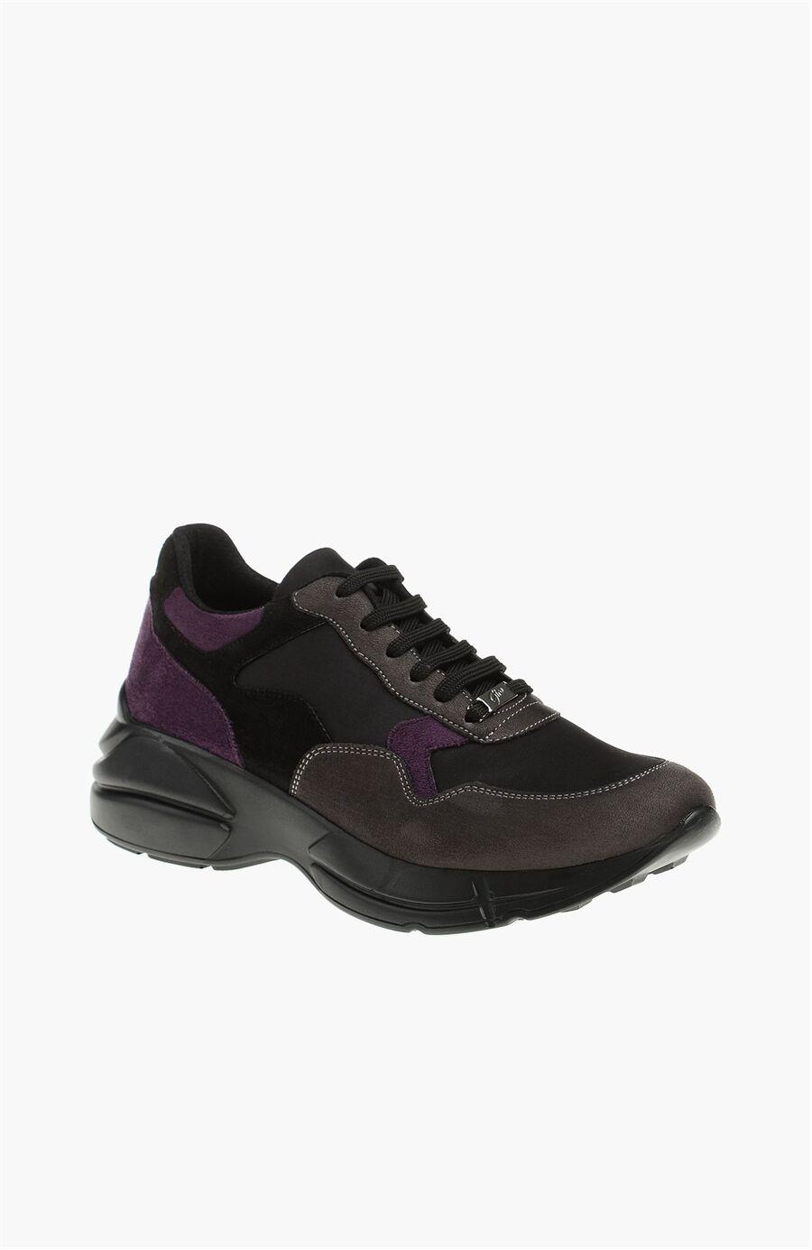 Süet Siyah Kadın Sneaker