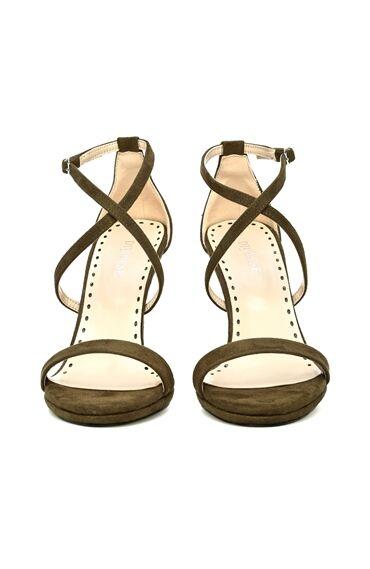 Süet Haki Kadın Sandalet