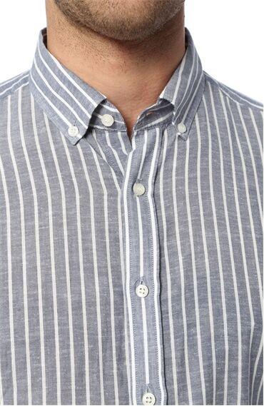 Çizgili Indigo Gömlek