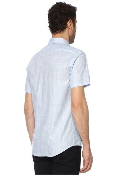 Ekose Açık Mavi Gömlek