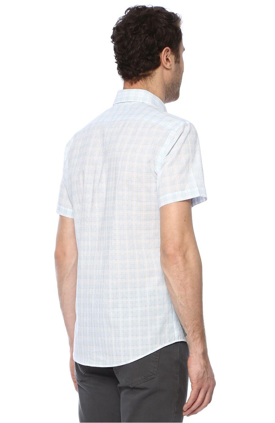 Ekose Mavi Beyaz Gömlek