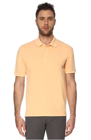 Polo Yaka Slim Fit Turuncu Tshirt
