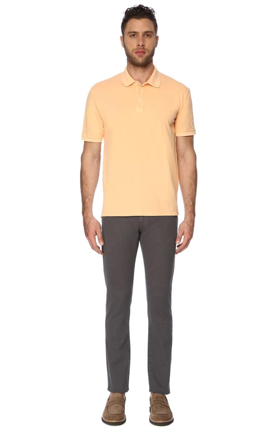 Polo Yaka Slim Fit Turuncu Tshirt