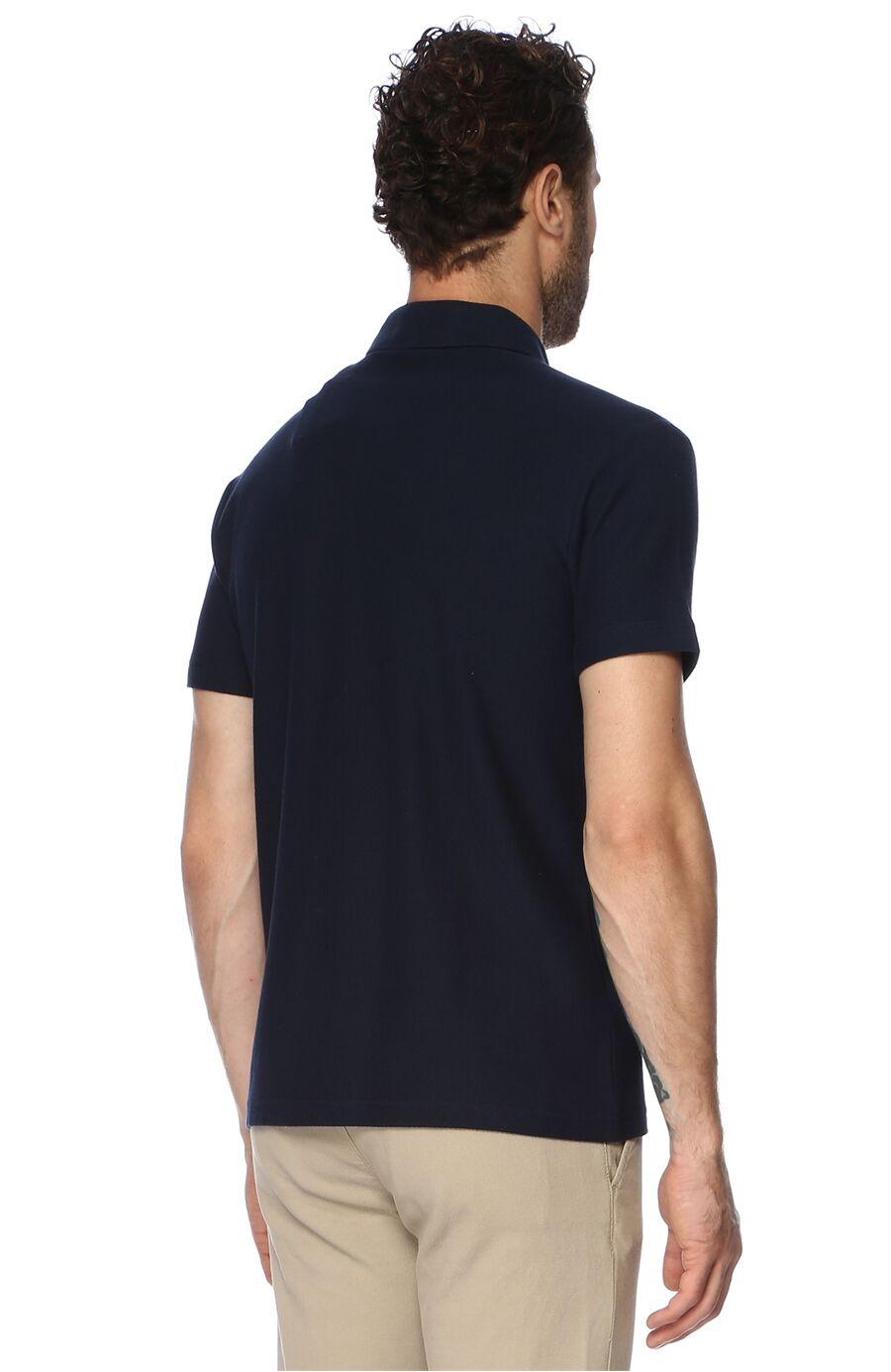 Slım Fit Kısa Kol Lacivert Tshirt