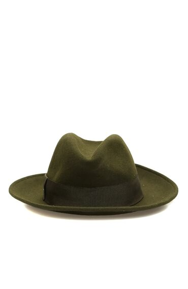 Yün Haki Kadın Şapka