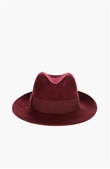 Yün Bordo Kadın Şapka