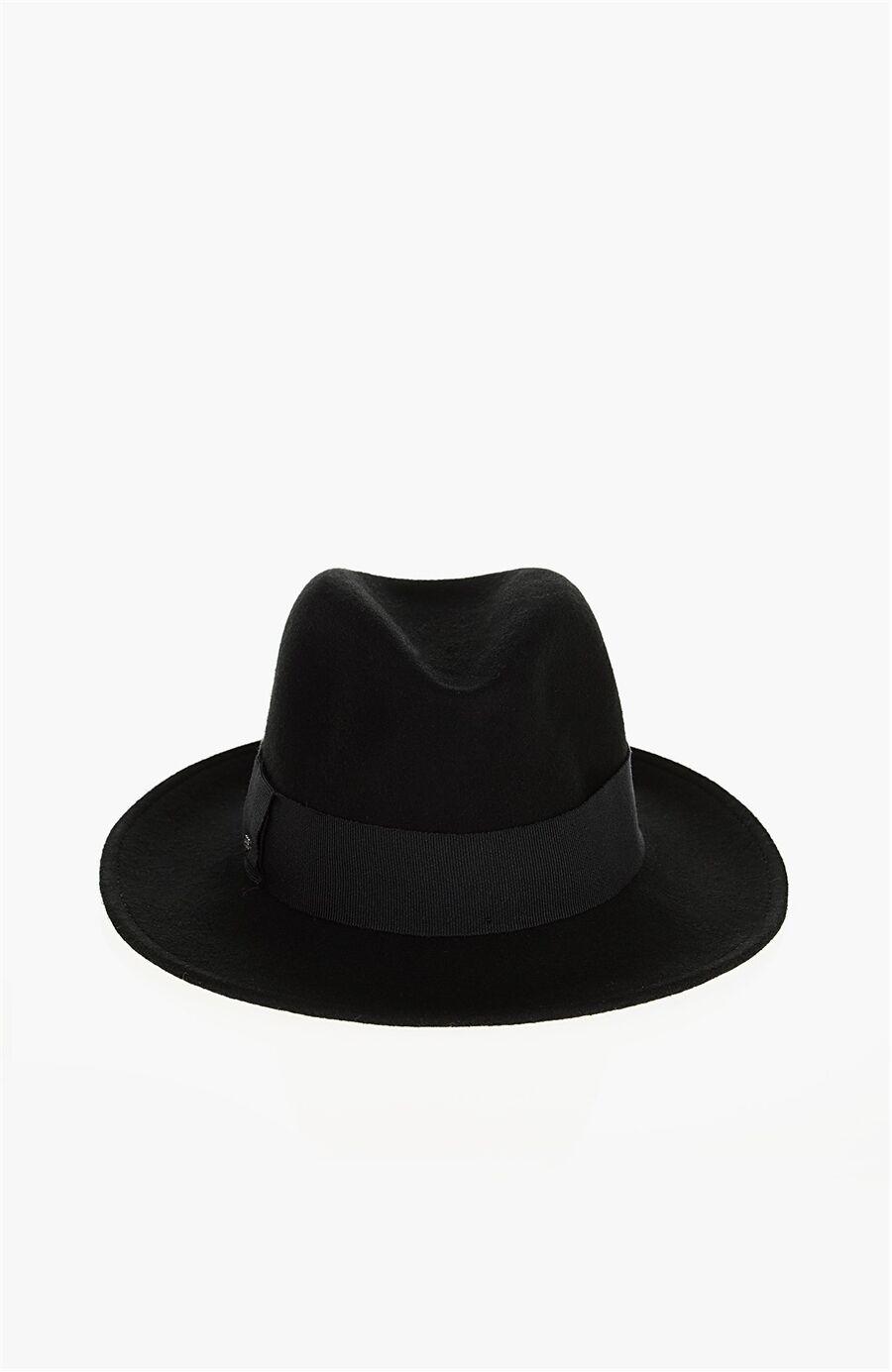 Yün Siyah Kadın Şapka