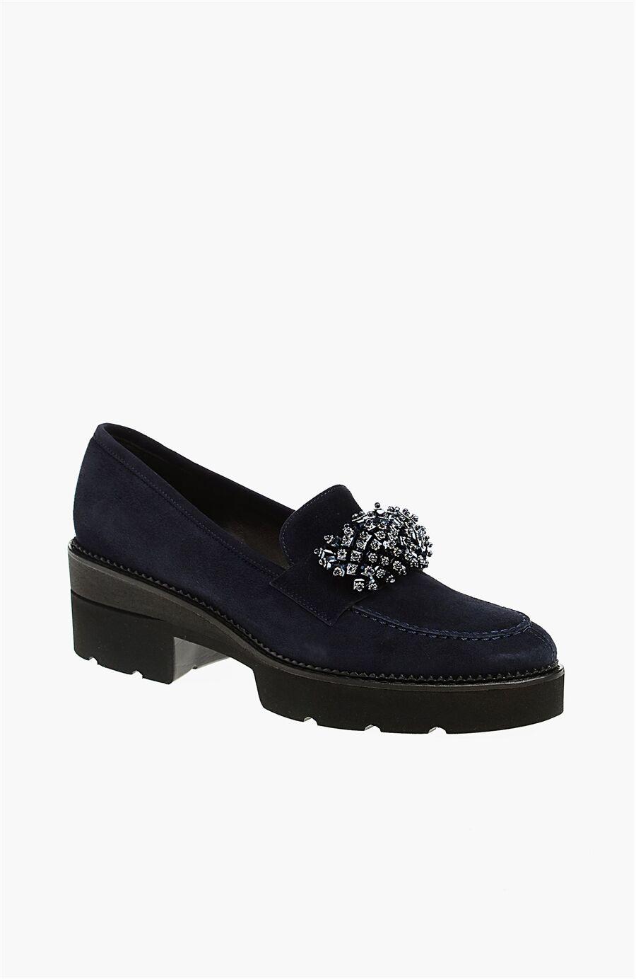 Süet Lacivert Kadın Ayakkabı