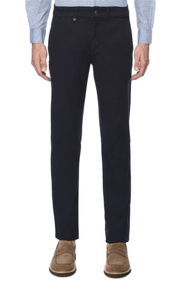 Mikro Desenli Slim Fit Erkek Casual Pantolon