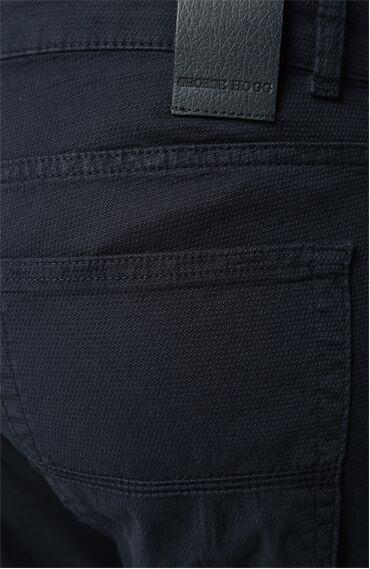 Mikro Desenli Slım Fit Erkek Casual Pantolon