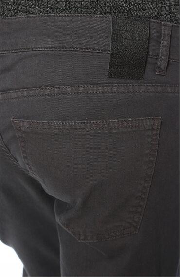 Diyagonal Slım Fit Antrasit Casual Pantolon