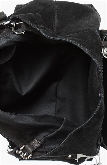 Siyah Süet Kadın Çanta