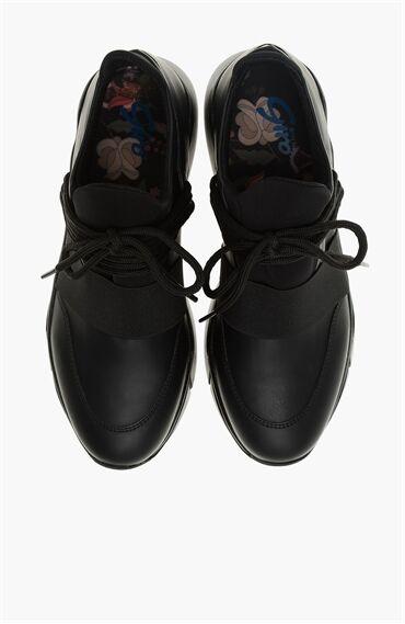 Scuba Kumaş Siyah Sneaker