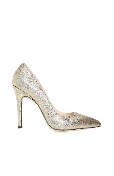 Altın Rengi Kadın Stiletto