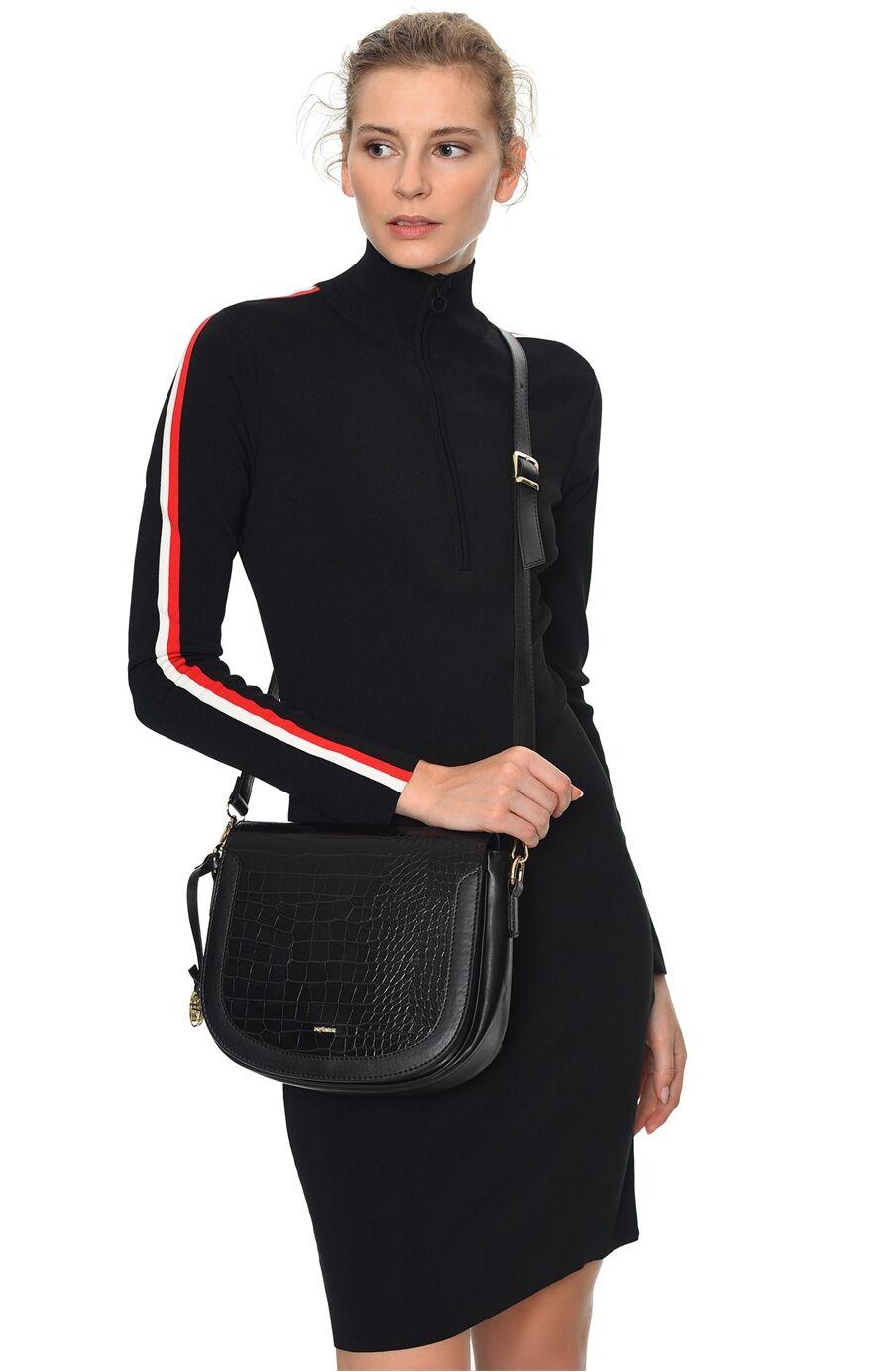 Siyah Kadın Postacı Çantası