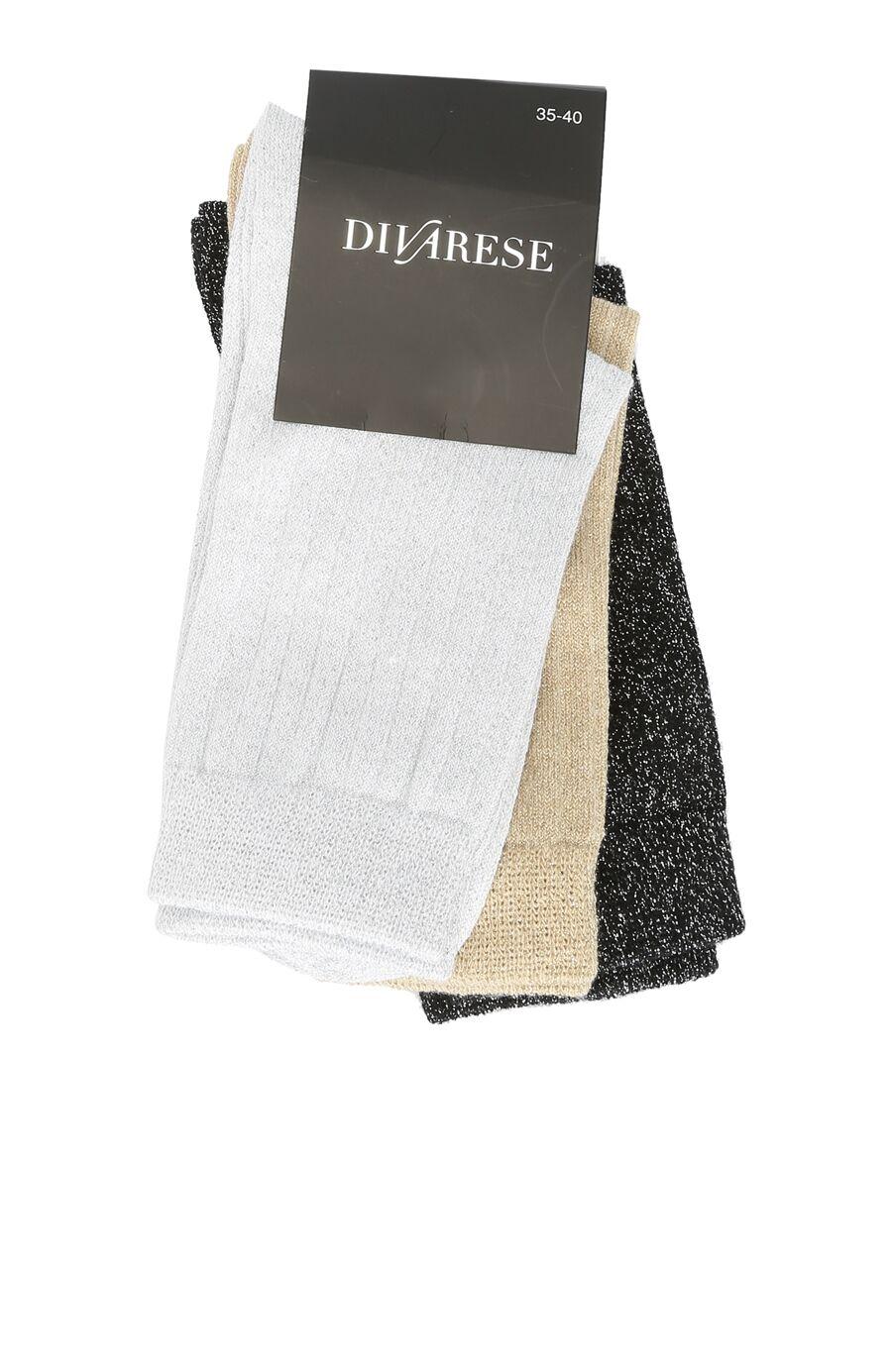 Beyaz 3'Lü Kadın Çorap Set