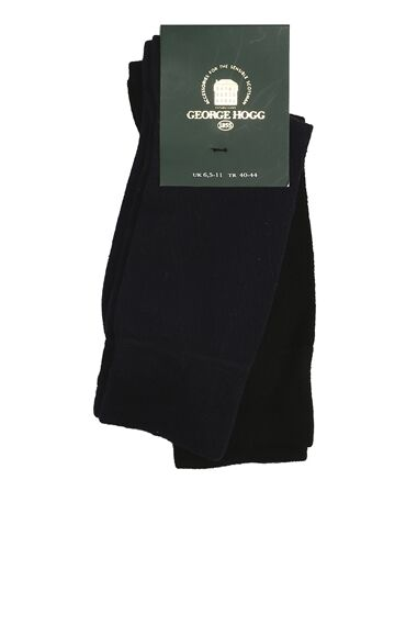 Bamboo Desenli Siyah Lacivert 2li Çorap Set