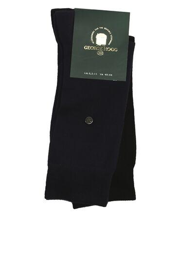 Bamboo Desenli Siyah Lacivert 2li Erkek Çorap Seti