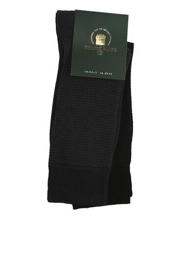 Bamboo Desenli Siyah Antrasit 2li Çorap Set