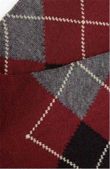 Bordo-Siyah Çorap