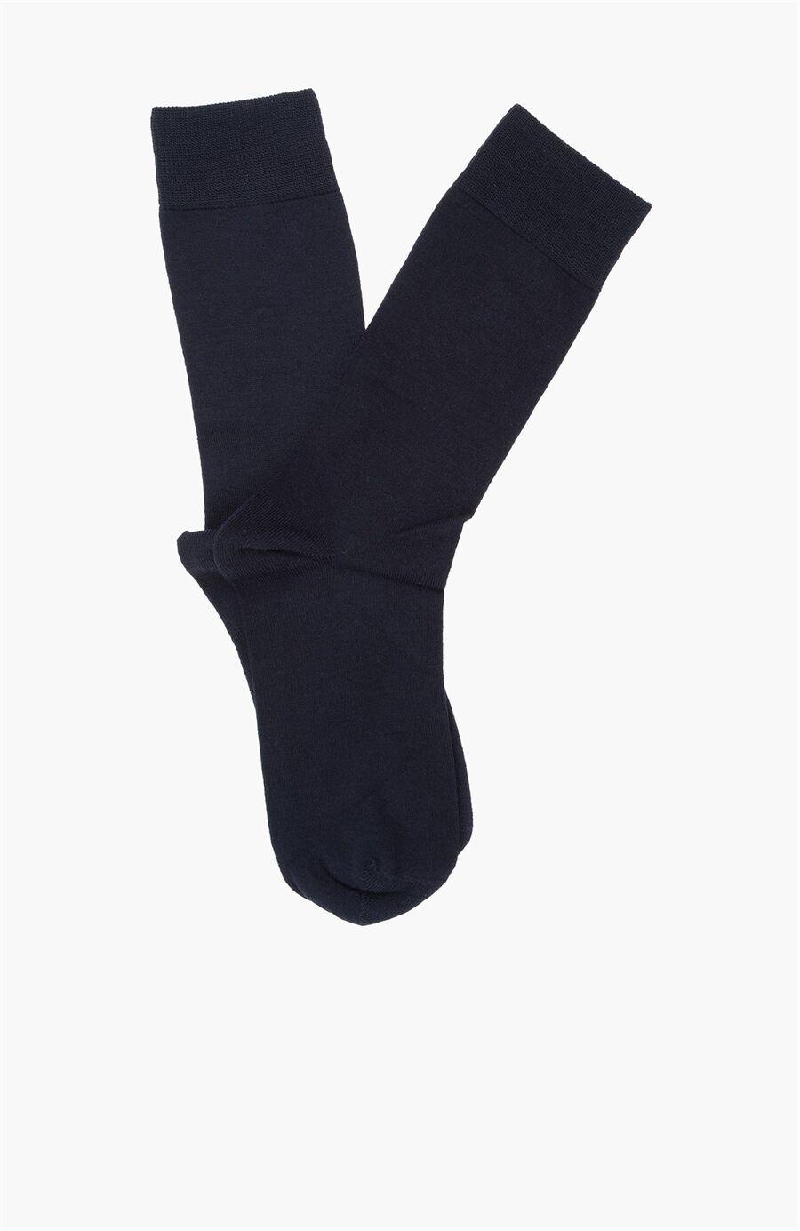Bamboo Desenli Lacivert Çorap