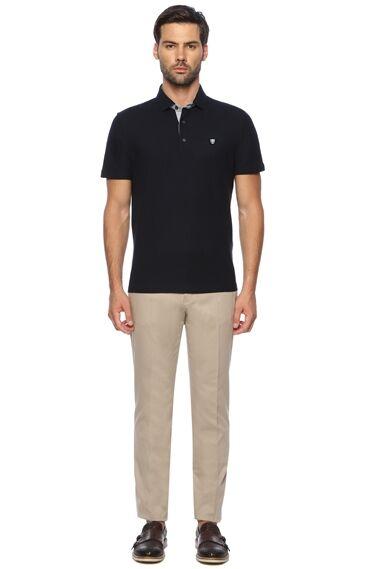 Polo Yaka Slim Fit Lacivert Tshirt