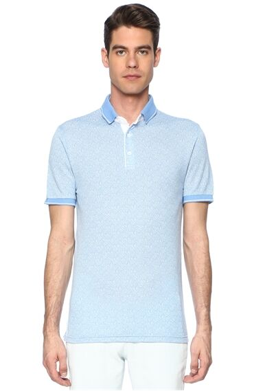 Jakarlı Mavi Tshirt