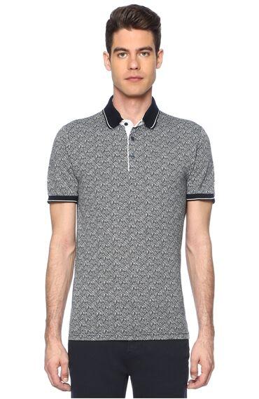 Jakarlı Lacivert Tshirt