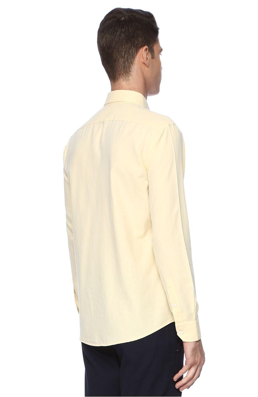 Oxford Slım Fit Sarı Gömlek