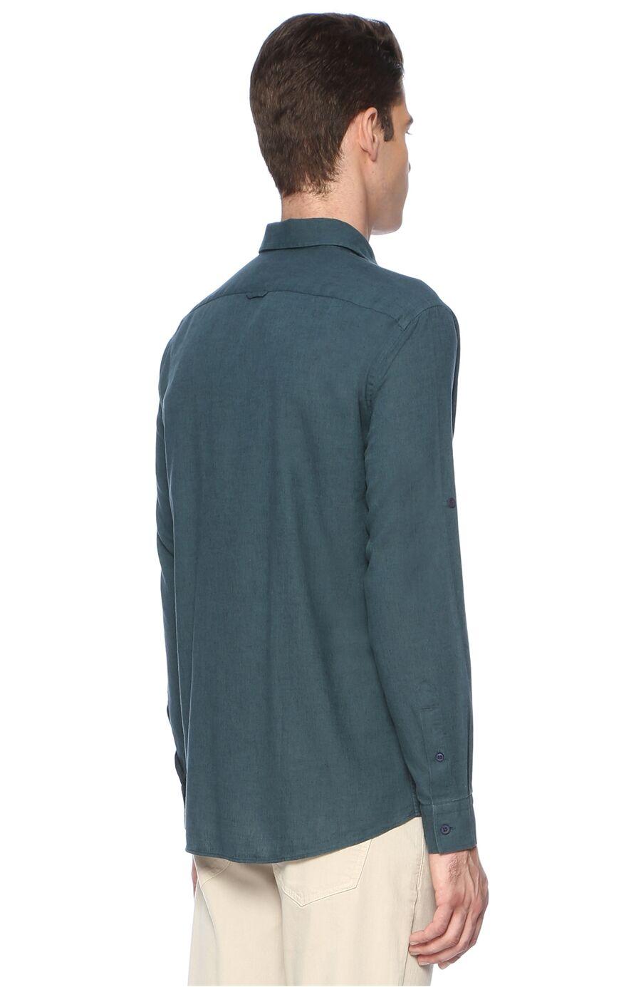 Slim Fit Koyu Mint Gömlek