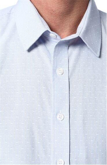 Jakarlı Açık Mavi Gömlek