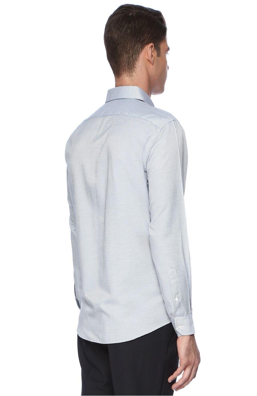 Armürlü Lacivert - Mavi Gömlek