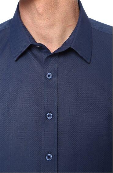 Jakarlı Saks Gömlek