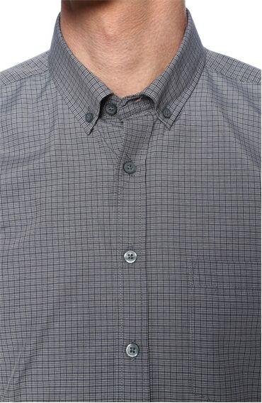 Kareli Haki-Lacivert Gömlek
