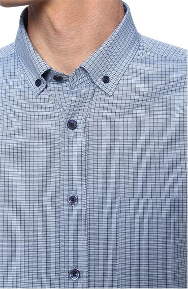 Kareli Lacivert - Mavi Gömlek
