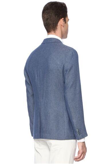 Jakarlı Indigo Ceket