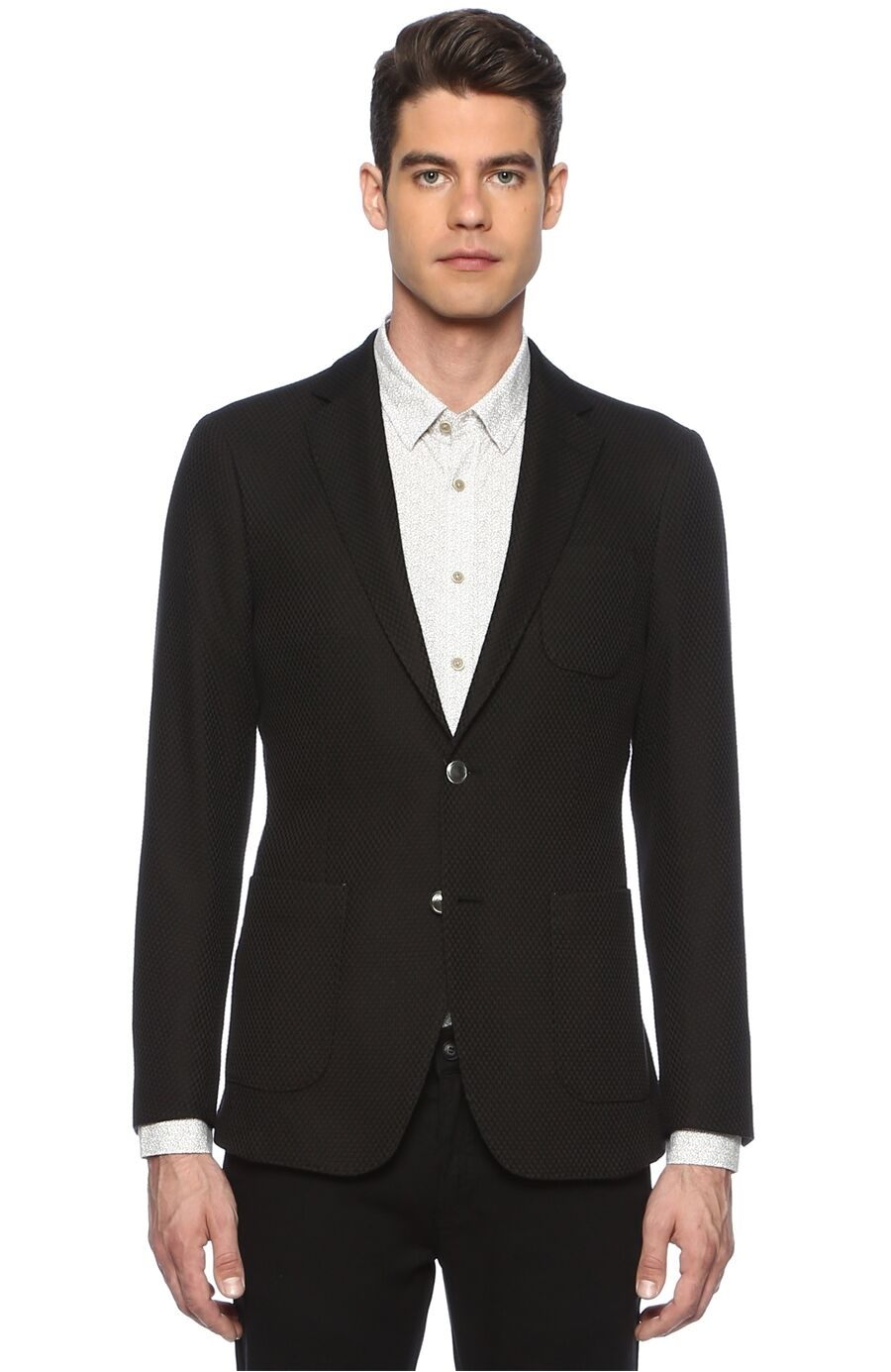 Jakarlı Siyah Ceket
