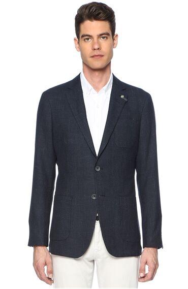 Armürlü Indigo Ceket