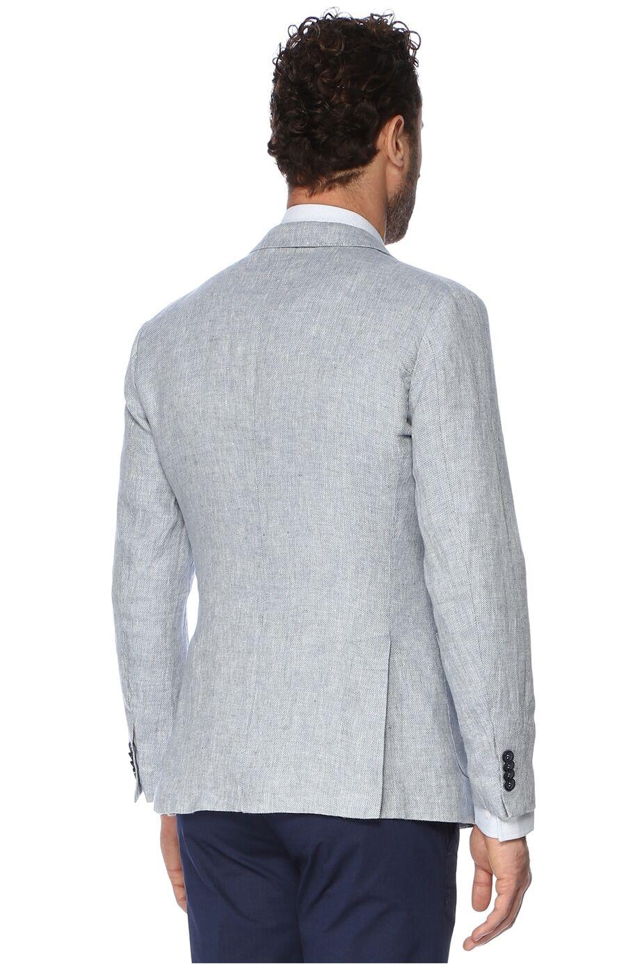 Jakarlı Açık Mavi Ceket