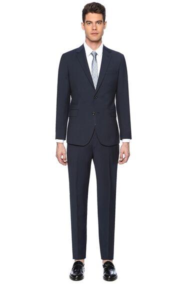 Mikro Slım Fit Lacivert Takım Elbise