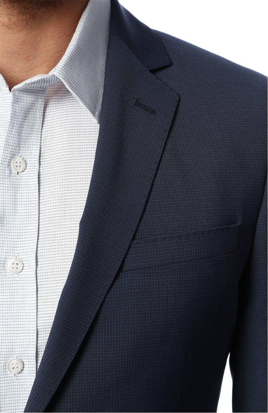 Ekose Lacivert Takım Elbise